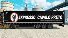 Skin Expresso Cavalo Preto in the semi for Euro Truck Simulator 2