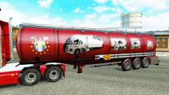 Skin Scania History for chemical semi-trailer