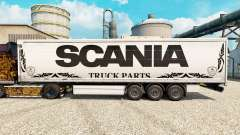 Skin white Scania Truck Parts for semi-trailers