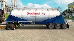 Skin Gedimat cement semi-trailer for Euro Truck Simulator 2