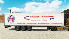 Skin Thaler Trans on a curtain semi-trailer for Euro Truck Simulator 2