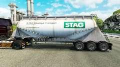 Skin STAG cement semi-trailer