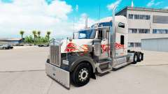 The skin of the Bull on the truck Kenworth W900