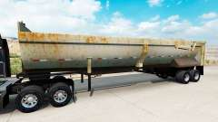 Tipper semitrailer with rust
