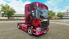 Skin Weltall on the tractor Scania