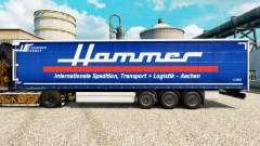 Skin Hammer Group on semi for Euro Truck Simulator 2