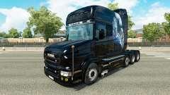 White Cheetah skin for truck Scania T