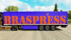 Braspress skin for trailers for Euro Truck Simulator 2