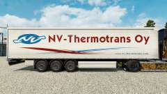 Skin NV-Thermotrans Oy on a curtain semi-trailer