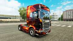 Fire Effect skin for Scania truck for Euro Truck Simulator 2