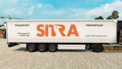 Sitra skin for curtain semi-trailer