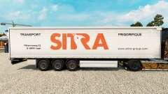 Sitra skin for curtain semi-trailer
