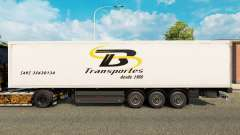TB Transportes skin for trailers for Euro Truck Simulator 2