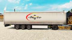 Skin Pall-Ex to curtain semi-trailer