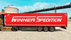 Winner Spedition skin for trailers for Euro Truck Simulator 2