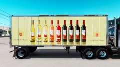 Skin E. & J. Gallo Winery in small trailer
