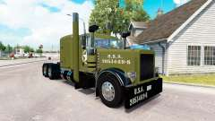 WW2 Clean skin for the truck Peterbilt 389 for American Truck Simulator