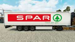 Skin Spar on a curtain semi-trailer