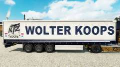 Wolter Koops skin for curtain semi-trailer for Euro Truck Simulator 2