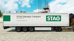 Skin Stag Staubgut Transport on semi-trailers