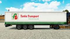 Skin Tanke Transport on semi-trailer curtain