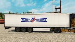 Skin Nijhof Wassink on semi for Euro Truck Simulator 2