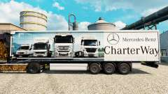Skin Mercedes-Benz Charter Way on the trailers