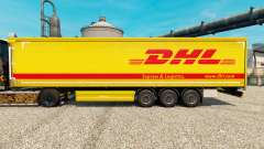 Skin DHL v4 for trailers for Euro Truck Simulator 2