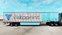 Skin Vistaprint on a curtain semi-trailer for American Truck Simulator