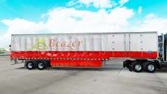 Skin Beazer Homes on a curtain semi-trailer