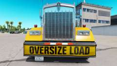 Bumper Oversize Load for the Kenworth W900 for American Truck Simulator