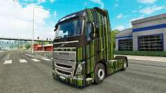 Green Stripes skin for Volvo truck