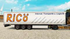 Skin Rico on curtain semi-trailer for Euro Truck Simulator 2