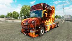 Flames skin for truck Scania T