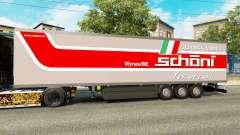 The semitrailer-the refrigerator Schoni Logistic
