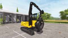 Grab backhoe loader