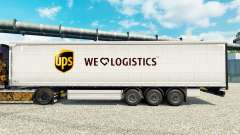 Skin UPS Logistics for trailers for Euro Truck Simulator 2