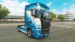 Blue Flame skin for Scania R700 truck