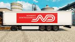 Norbert Dentressangle skin for trailers for Euro Truck Simulator 2