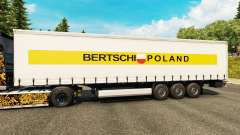 Skin Bertschi Poland in the semi for Euro Truck Simulator 2
