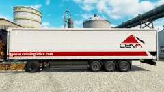 Ceva Logistics skin for trailers for Euro Truck Simulator 2