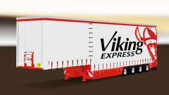 Curtain semitrailer Krone Viking Express