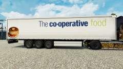 Skin The co-operative food on a curtain semi-trailer for Euro Truck Simulator 2