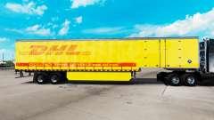 Skin DHL for curtain semi-trailer