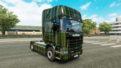 Green Stripes skin for Scania truck