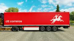 Skin CTT Correios de Portugal S. A on trailers for Euro Truck Simulator 2