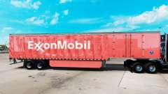 Skin ExxonMobil on a curtain semi-trailer