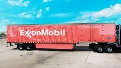 Skin ExxonMobil on a curtain semi-trailer