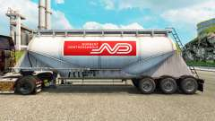 Skin Norbert cement semi-trailer