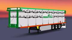 The semitrailer-platform with a load of cylinder